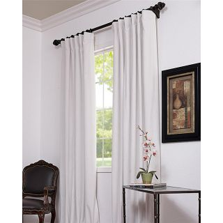 Off White Velvet Blackout 96 Inch Curtain Panel