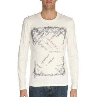 CALVIN KLEIN JEANS T Shirt Homme Crème Crème   Achat / Vente T SHIRT