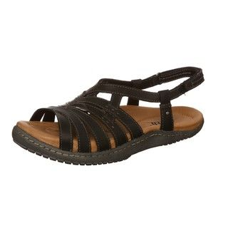 Kalso Earth Womens Imagine Black Leather Sandals