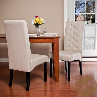 Christopher Knight Home Tall back Natural Fabric Dining Chairs (Set of