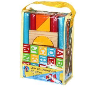 de construction en bois 52 pieces   Jeux de construction en bois. 52