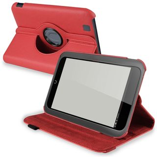 BasAcc Red Leaher Swivel Case for Barnes & Noble Nook HD