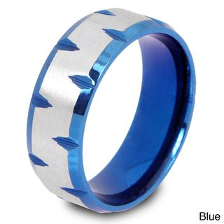 Color plated Stainless Steel Matte Center Facet cut Edge Ring
