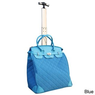 Travelers Club Ultra Chic 18 inch Quilted Rolling Tote with Laptop