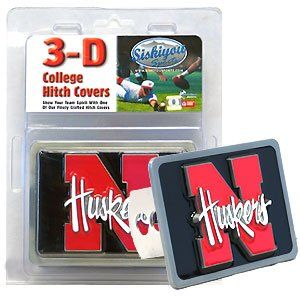 Nebraska Cornhuskers 3 D Trailer Hitch Cover   NCAA