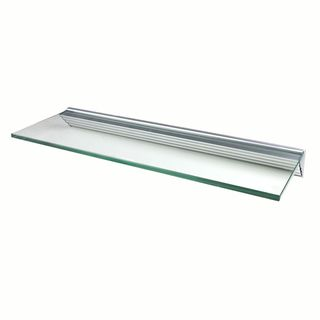 Glacier 36x12 inch Clear Glass Shelf Kits (Pack of 4)