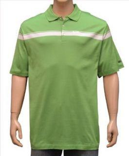 Nike Tiger Woods Golf Ribbon Big Swoosh Polo Shirt Green