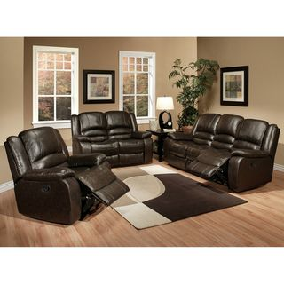 Abbyson Living Brownstone Premium Top grain Leather Reclining Sofa