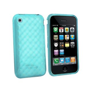 Blue Mid Diamond Case for Apple iPhone 3G/ 3GS