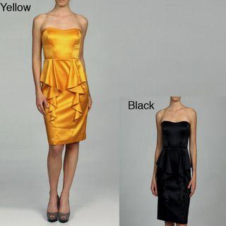 Jessica Simpson Womens Peplum Strapless Dress FINAL SALE