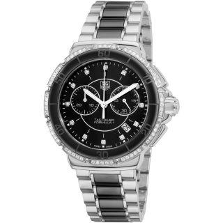 Tag Heuer Womens Formula 1 Black Ceramic Quartz Chronograph Watch