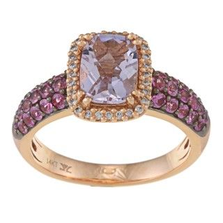 Encore by Le Vian 14k Gold Pink Amethyst, Sapphire and 1/3ct TDW
