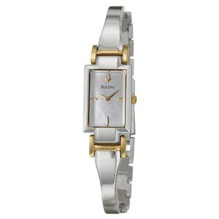 Bulova Womens Yellow Gold plated Stainless Steel Dress Watch