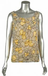 Ellen Tracy Womens Sunflower Scoop neck Tank Top Misses 8