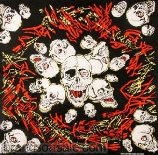 Scary Skull Halloween Bandana: Clothing