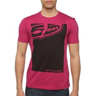 55DSL By DIESEL T Shirt Poster Homme Fuschia   Achat / Vente T SHIRT