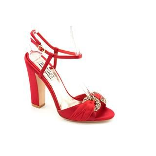 Badgley Mischka Womens Jeweled Satin Dress Shoes