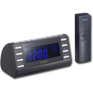 Insignia NS CLW01 Black Weather Band Tuner Clock Radio (Refurbished