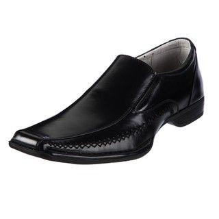 Steve Madden Mens Trace Black Loafers