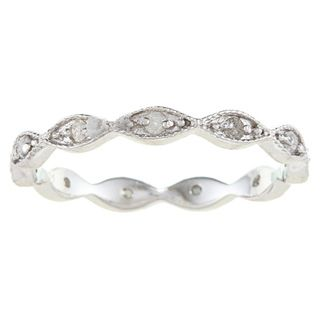 Sterling Silver 1/4ct TDW Diamond Stackable Eternity Band
