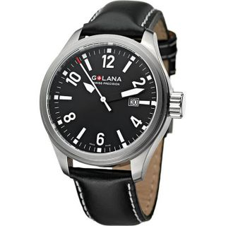 Golana Swiss Mens Terra Pro 100 Black Dial Watch