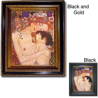 The Three Ages of Woman by Klimt Framed Canvas Art