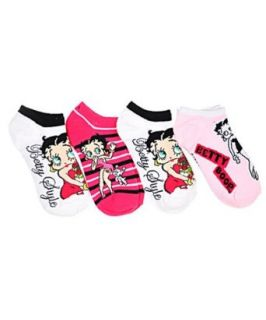 Betty Boop Roses are Forever 4 Pack Mini Crew Socks