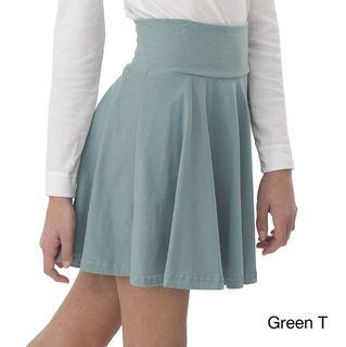 American Apparel Girls Cotton Spandex Jersey Wide Waistband Skirt