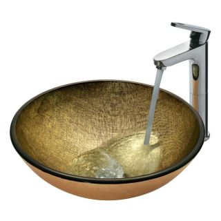 Vigo Bronze and Copper Glass Vessel Sink and Faucet Set
