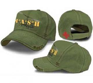 MASH Medi Vac Logo Olive Green Adjustable Cap Hat