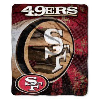 NFL San Francisco 49ers GRUNGE 50x60 Micro Raschel Throw
