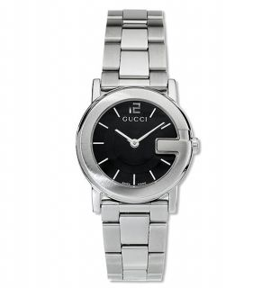 Gucci 101 Series Womens Black Dial Steel Watch