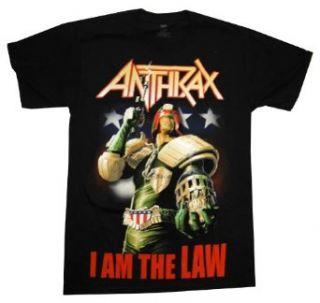 Anthrax I Am The Law Judge Dredd Rock Band Adult T Shirt
