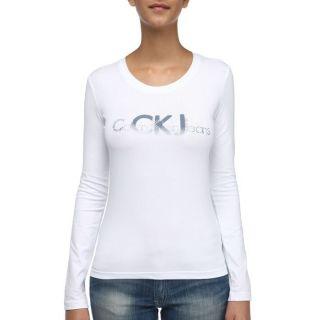 CALVIN KLEIN JEANS T Shirt F blanc   Achat / Vente T SHIRT CALVIN