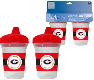 Georgia Bulldogs UGA NCAA Baby Sippy Cup   2 Pack: Sports