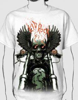 Kid Rock   Skull Chopper Adult T Shirt In White, Size XX