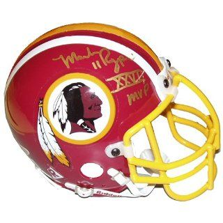 Mark Rypien Redskins Signed Mini Helmet w/SB MVP Sports