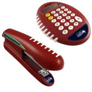 NFL Seattle Seahawks Stapler/Calculator Set Sports