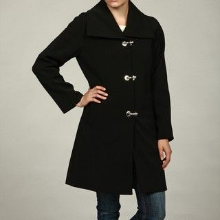 London Fog Womens Black A line Coat FINAL SALE