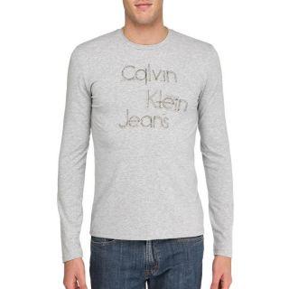 CALVIN KLEIN JEANS T Shirt Homme Gris Gris   Achat / Vente T SHIRT CK