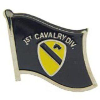 U.S. Army 1st Cavalry Division Flag Pin 1 Sports