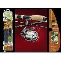 Bass Spinning Combo Beginner/Kids Rod and Reel PLUS