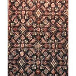 Hamadan Persian Handmade Hand knotted Black/ Grey Wool Rug (47 x 104