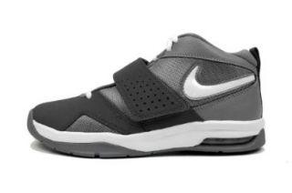 White Black Velcro Youth Basketball Shoes 472677002 [US size 7]: Shoes