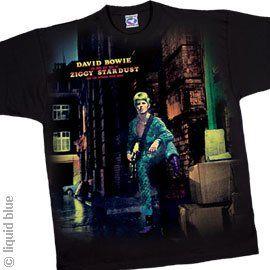 David Bowie   Ziggy Stardust T Shirt, Size XX Large