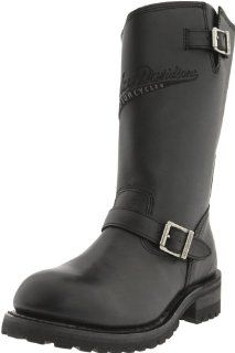 Harley Davidson Mens Trail Boss Riding Boot,Black,7.5 M US Shoes