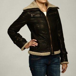 Miss Sixty Womens Brown Faux fur Coat FINAL SALE