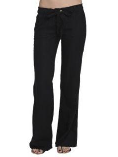 Arden B. Womens Wide Leg Linen Pant Clothing