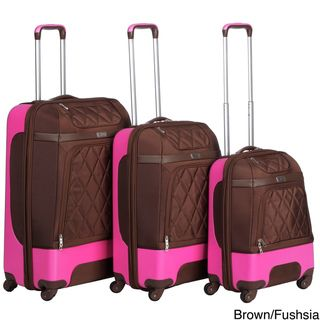 Heys USA Fuse Deluxe 3 piece Hybrid Spinner Luggage Set