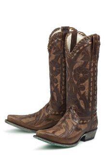 Lane Boots Poison in Distressed Brown Cowgirl Boots: Shoes